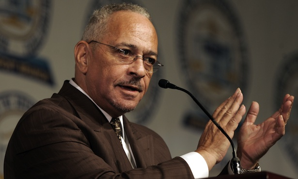 Rev. Jeremiah Wright Jr. gives the keynote address at the 2008 NAACP Freedom Fund dinner in Detroit