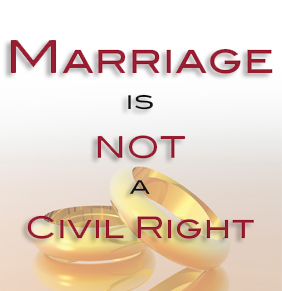 Marriage is not a Civil Right