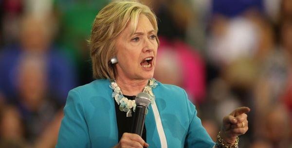 Hillary shouting